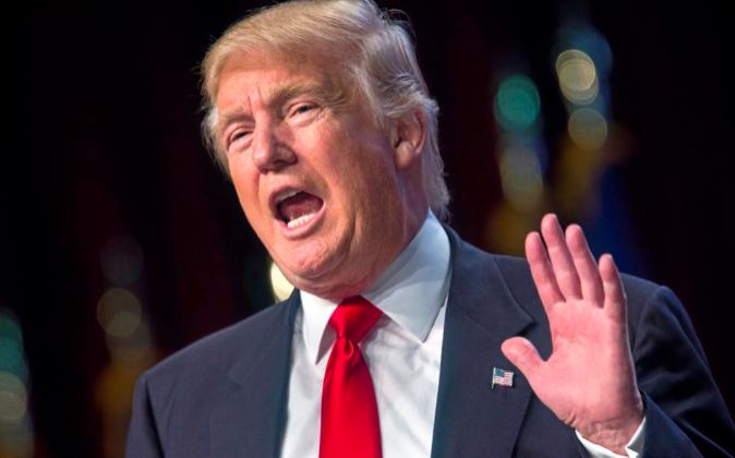 El candidato republicano a la Presidencia de EEUU, Donald Trump.
