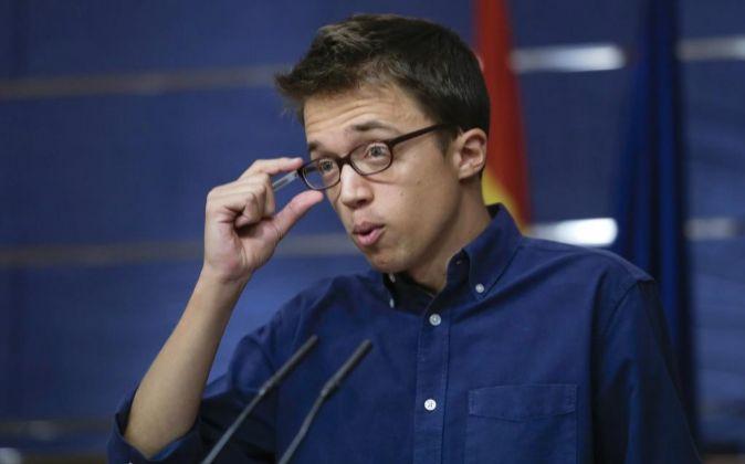 El portavoz de Podemos en el Congreso Íñigo Errejón.