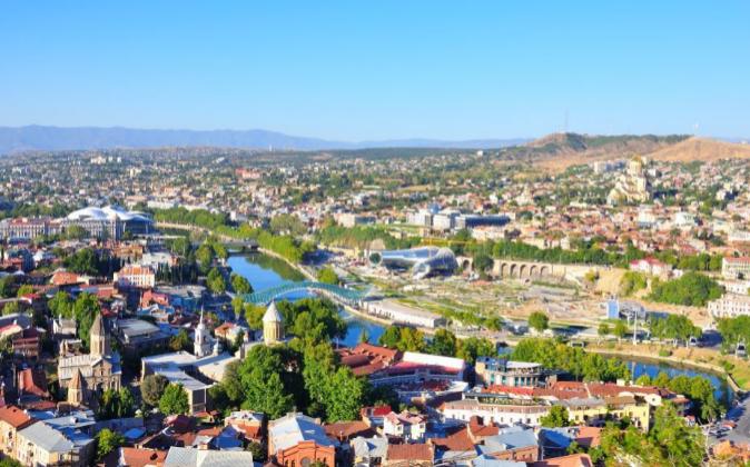 Vista de Tiblisi, la capital de Georgia