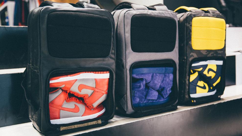 La marca Hex ha diseñado la Sneaker Backpack en tres colores...