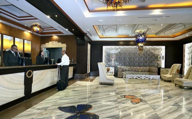 Imagen del hall del hotel Eurostar Panamá City, un establecimiento de...