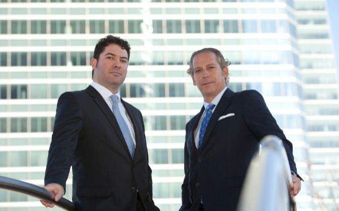 Juan Andrés Romero, presidente de Clerhp, y Alejandro Clemaers,...