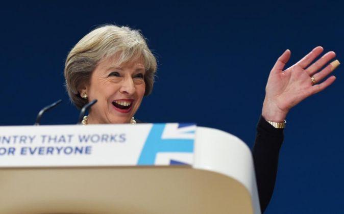 Theresa May, la primera ministra de Reino Unido, el domingo pasado.