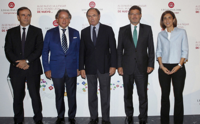De izquierda a derecha: el presidente Audiencia Nacional, José Ramón...