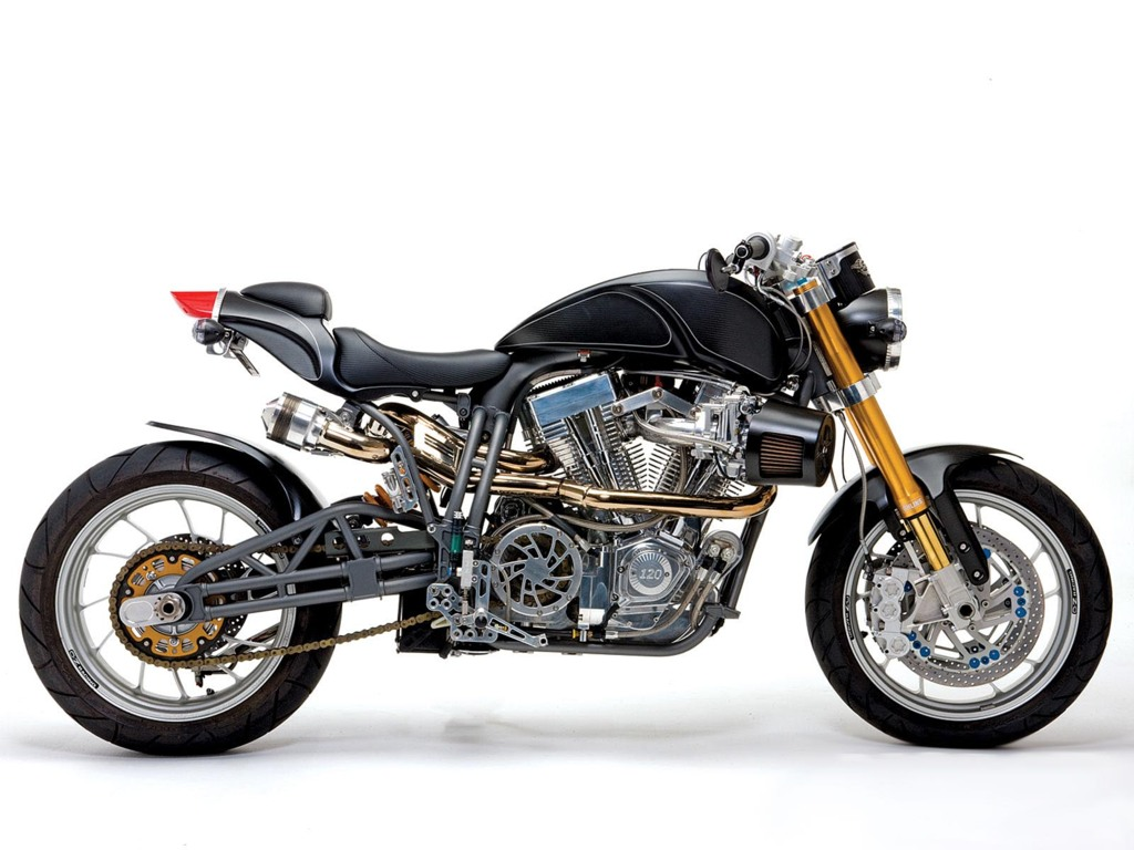 El americano Donald Atchison tiene probablemente la firma de motos...