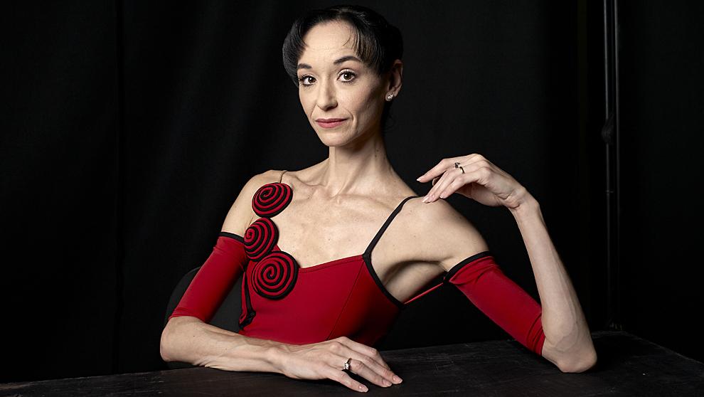 La bailarina en los Teatros del Canal, donde recientemente ha bailado...