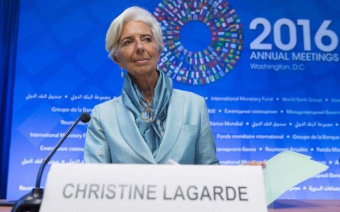 La directora general del FMI Christine Lagarde.