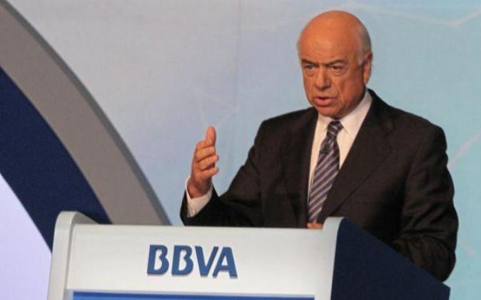 El presidente de BBVA Francisco González.