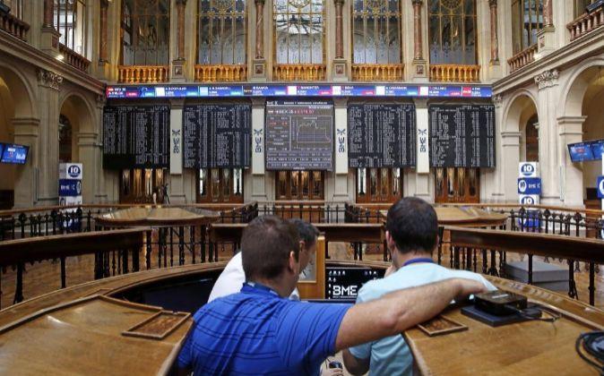 Bolsa de Madrid.
