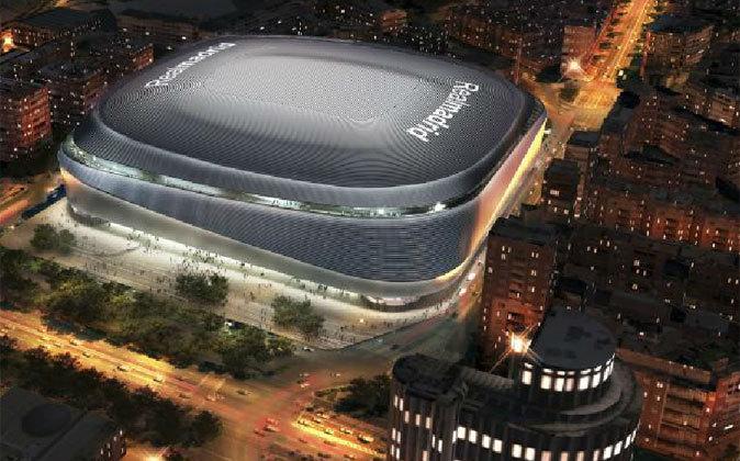 Recreación del Estadio Santiago Bernabéu tras la reforma.