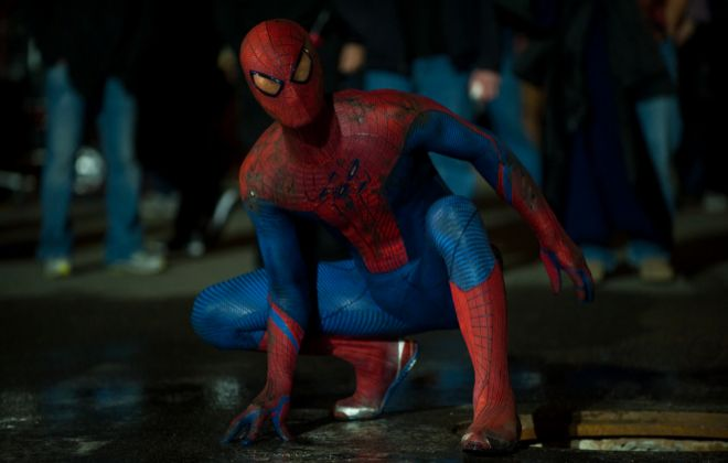 Spiderman, Andrew Garfield en el papel de Peter Parker.