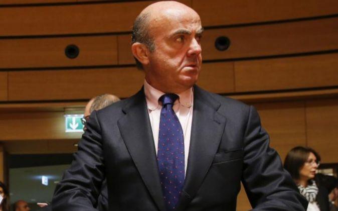El ministro español en funciones de Economía, Luis de Guindos.