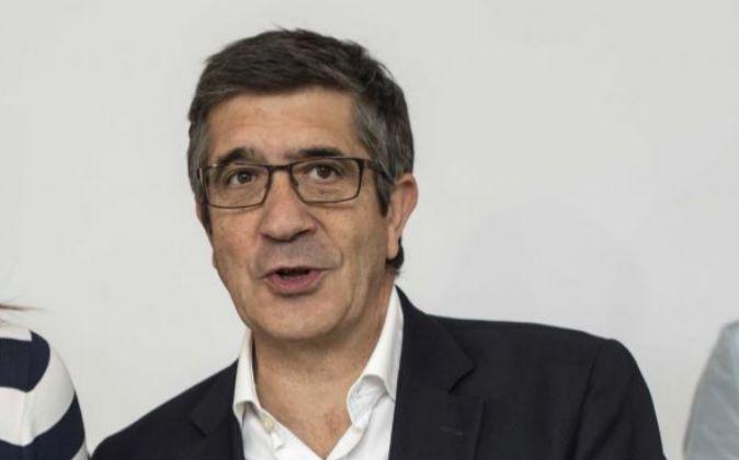 El exlehendakari y actual diputado del PSOE, Patxi López.