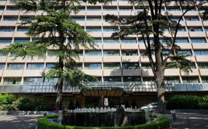 Hotel Villa Magna en el paseo de la Castellana (Madrid).