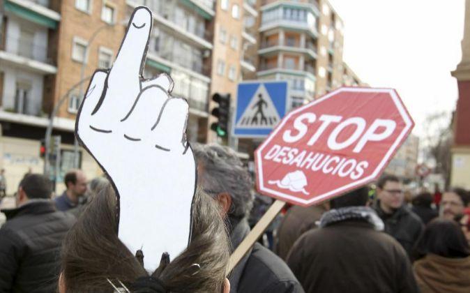 Manifestación de Stop Desahucios.