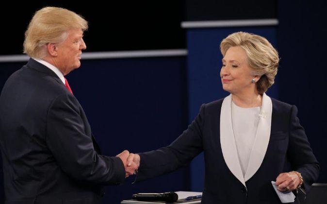 Donald Trump y Hillary Clinton, candidatos a la presidencia de EEUU.