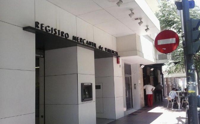 Sede del Registro Mercantil de Valencia.