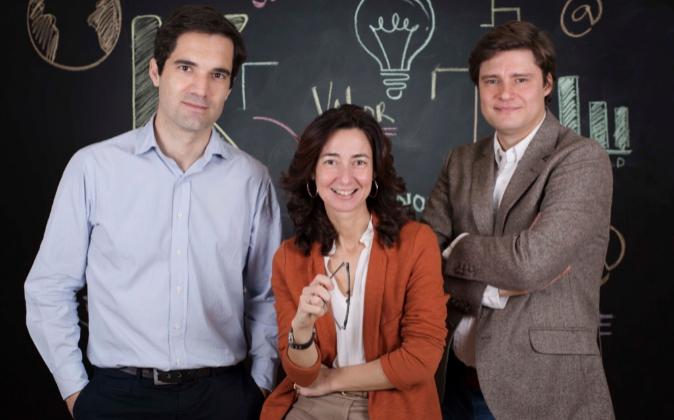 Tres de los miembros de K Fund: de izquierda a derecha, Iñaki Arrola,...