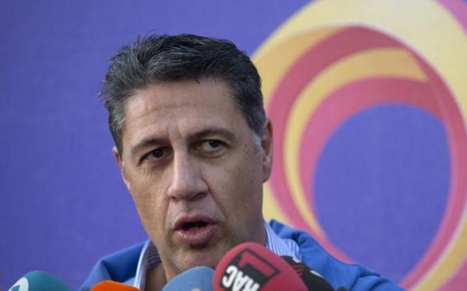 El lider del PP de Cataluña, Xavier Garcia-Albiol, ayer.