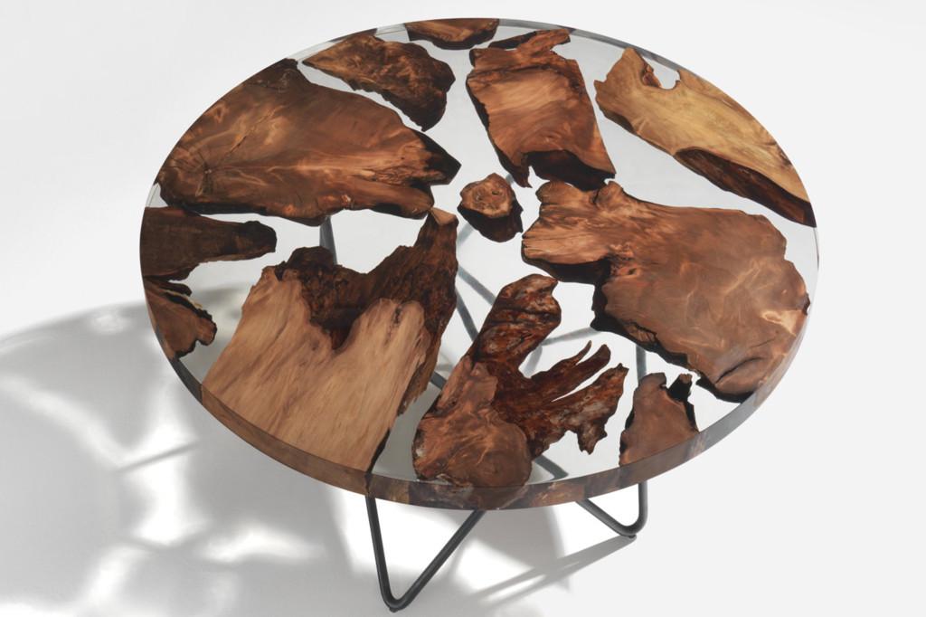 Un metafórico globo terráqueo donde los continentes son de madera...