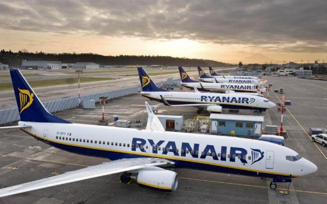 Imagen de aviones de Ryanair