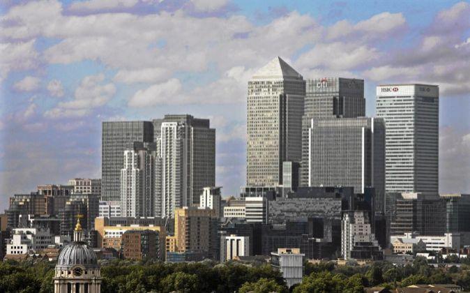 Distrito financiero de Canary, en Londres.