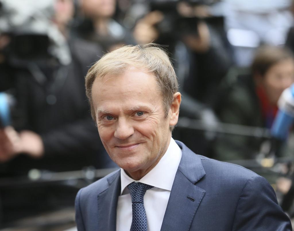 El presidente del Consejo Europeo, Donald Tusk, llega a la cumbre de...
