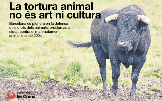 """""""La tortura animal no es arte ni cultura""""."""