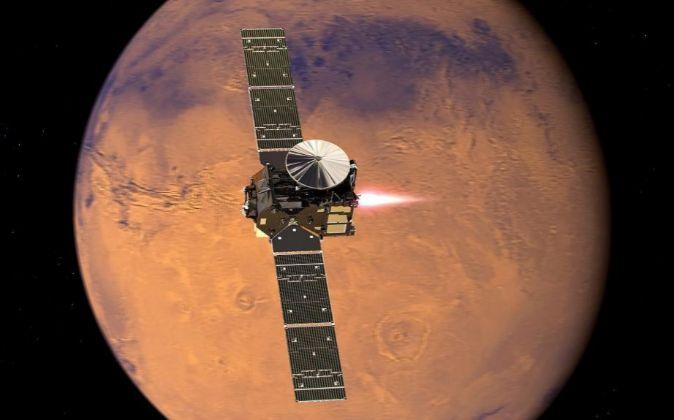 Fotografía facilitada por la Agencia Espacial Europea (ESA) que...