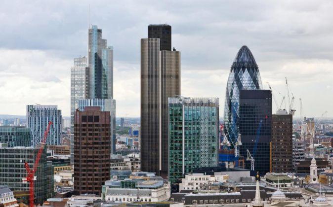 Rascacielos de la City de Londres.