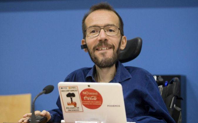 El líder de Podemos en Aragón Pablo Echenique.