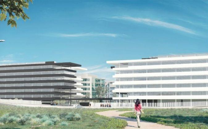 Imagen de los dos edificios de oficinas que construirá Hispania.