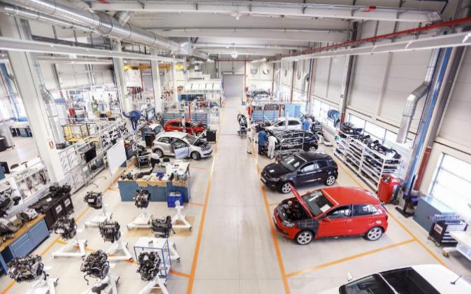 Una fábrica de Volkswagen. Archivo.