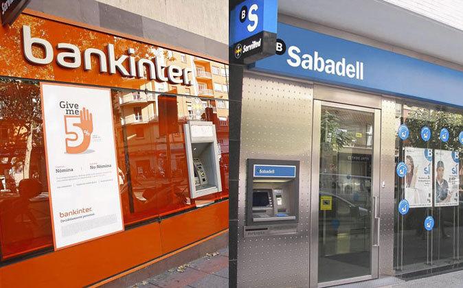 Sucursales de Bankinter y Sabadell.