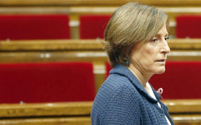 La presidenta del Parlament, Carme Forcadell.