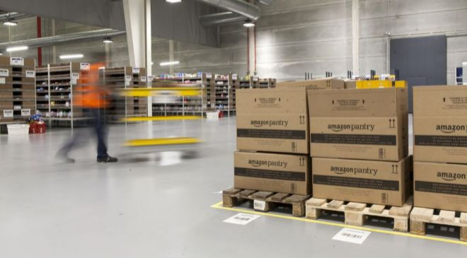 Imagen del centro logístico de Amazon en Castellbisbal (Barcelona),...