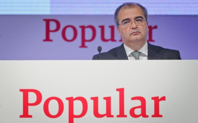 Ángel Ron, presidente de Banco Popular.