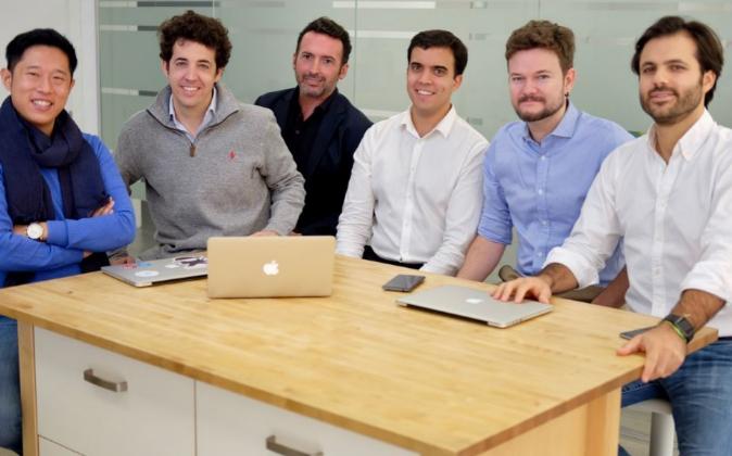 De izquierda a derecha, los socios de OnTruck: Antonio Lu, Íñigo...