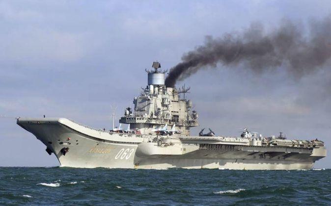 El portaaviones Almirante Kuznetsov es uno de los buques que integran...