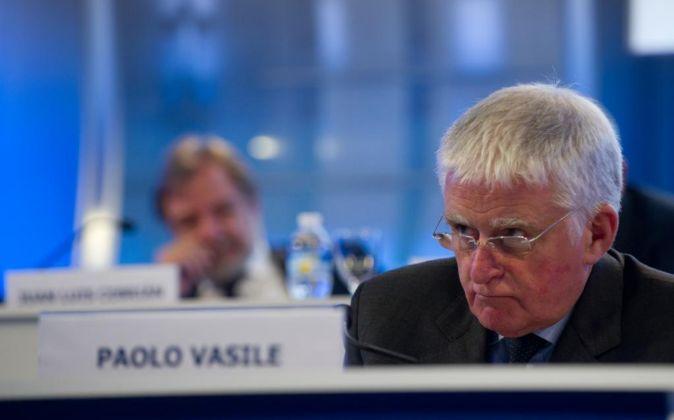 Junta de accionistas de Mediaset. En la imagen, Paolo Vasile.