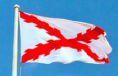 bandera roja y blanca cruz