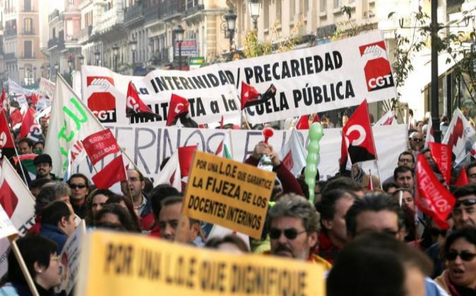 Manifestación el pasado 16 de noviembre de 2015 de unos 500...