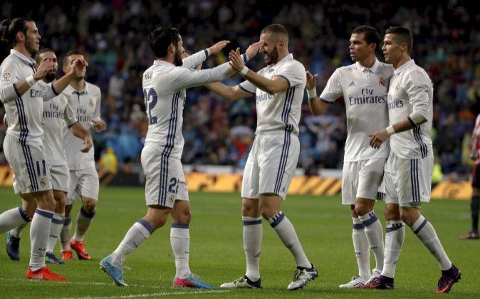 Los jugadores del Real Madrid.