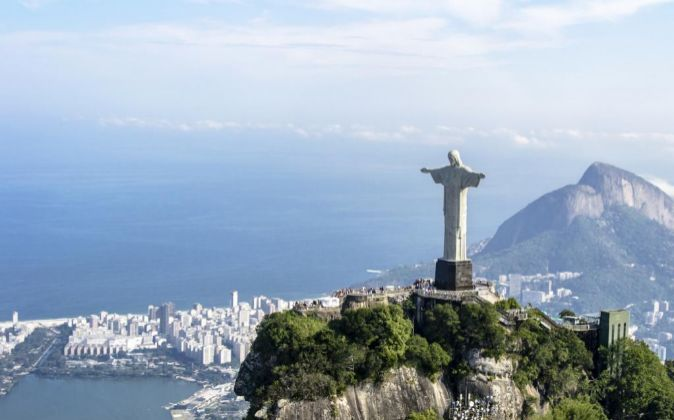 El Cristo Redentor del cerro del Corcovado en Río de Janeiro.