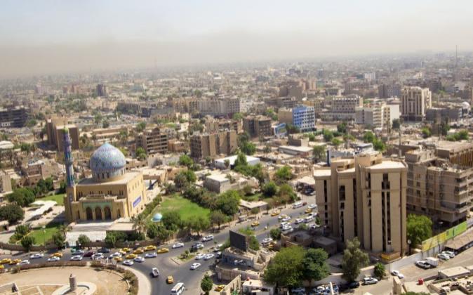 Vista aérea de Bagdad, la capital de Irak