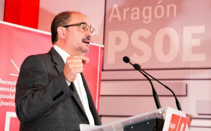 El secretario general del PSOE Aragón, Javier Lambán.