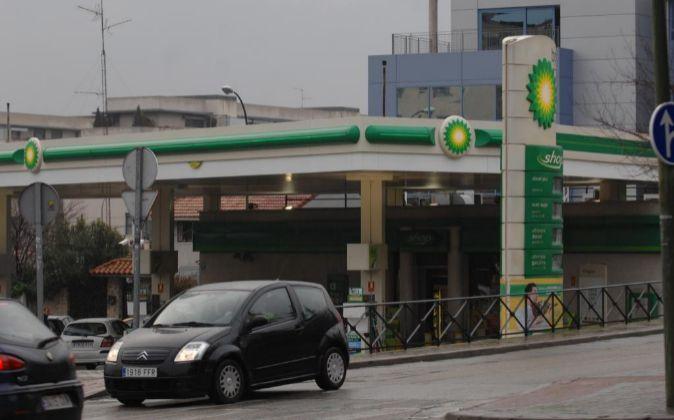 Imagen de una gasolinera BP en Madrid.