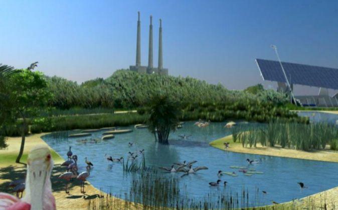 Imagen virtual del zoo marino de Barcelona, proyecto que se acabó...