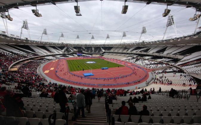 Interior del estadio olímpico de Londres antes de la reforma.