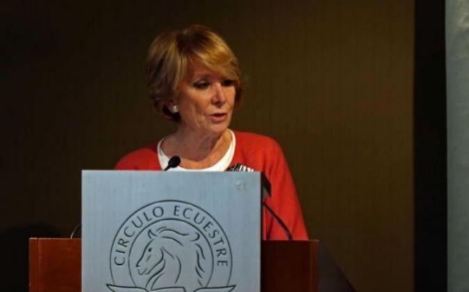 La portavoz del PP en el Ayuntamiento de Madrid, Esperanza Aguirre.